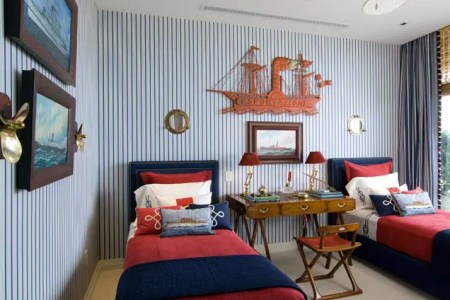 nautical inspired boys bedroom for two1