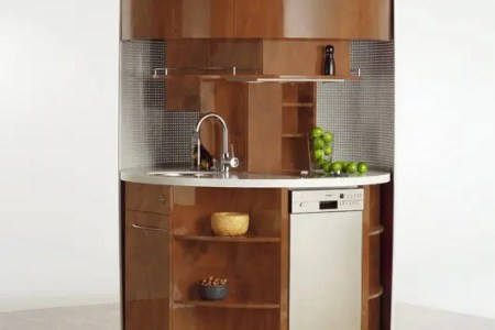 original circle kitchen for small space 9
