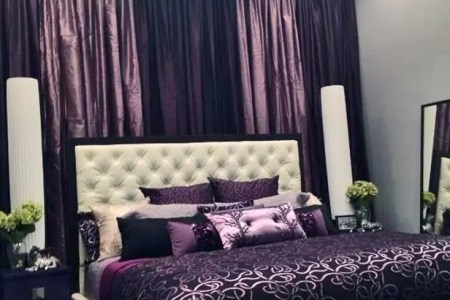purple accents in bedroom 37
