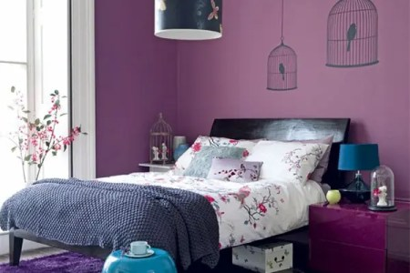 purple accents in bedroom 5