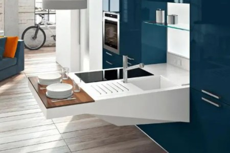 smart and elegant compact kitchen for small spaces | digsdigs