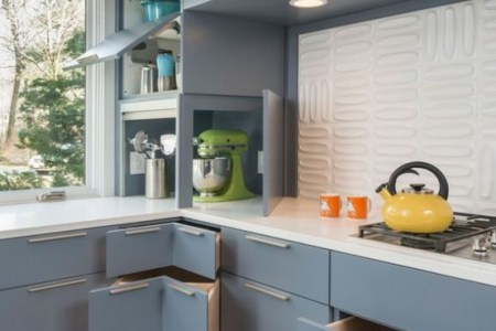 stylish andatmospheric mid century modern kitchen designs 4 554x774