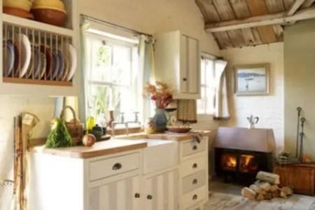 super cozy and charming cottage kitchens 38