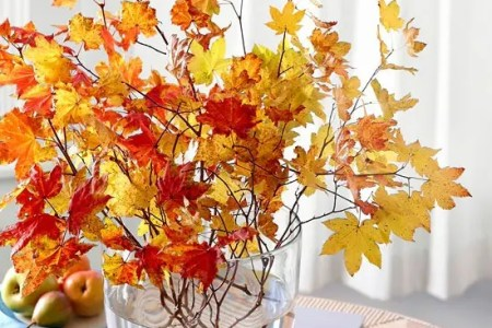 ways to use autumn leaves for home decor 13