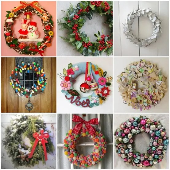 33 Holiday Wreaths Door Decor
