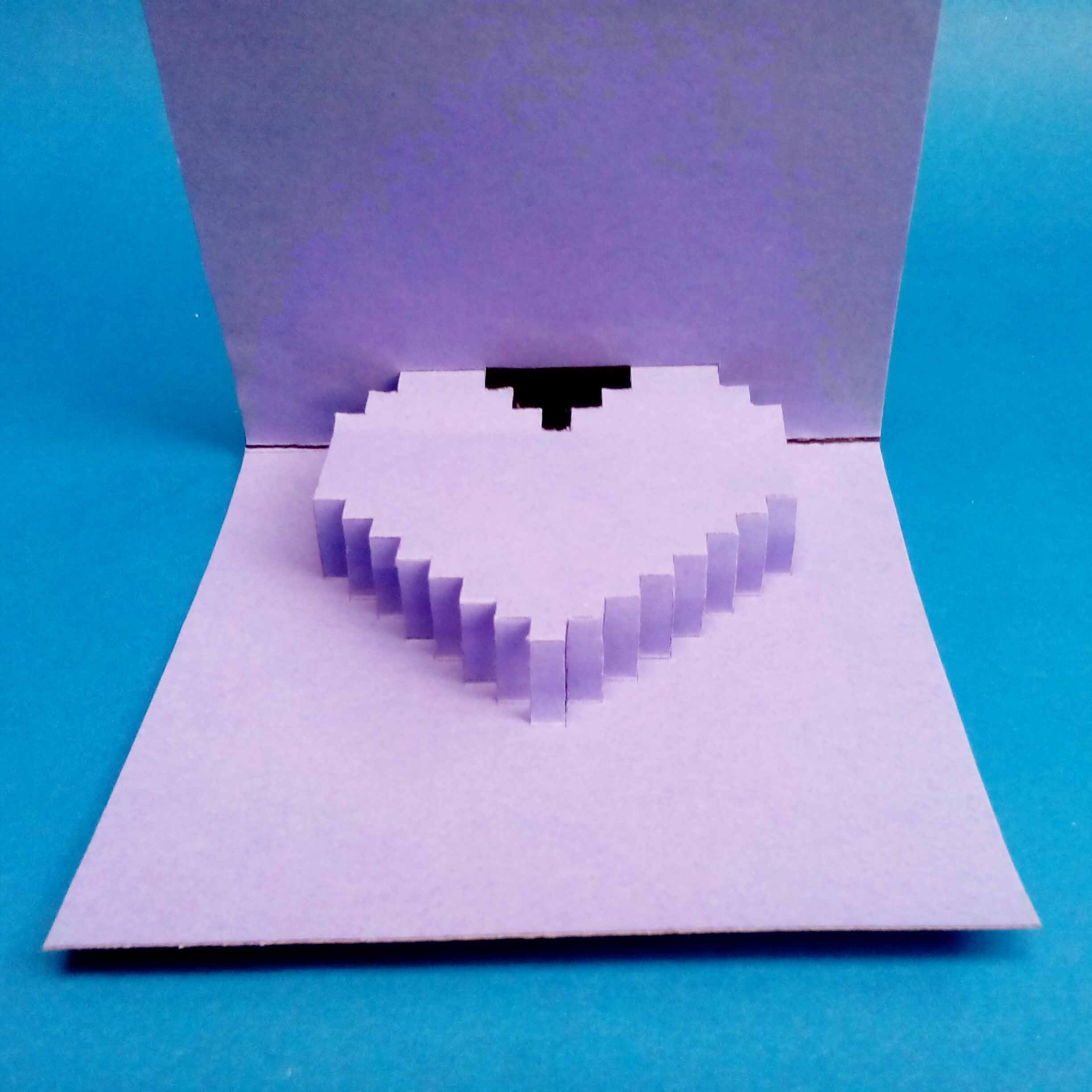 Small Heart Pop-up Card