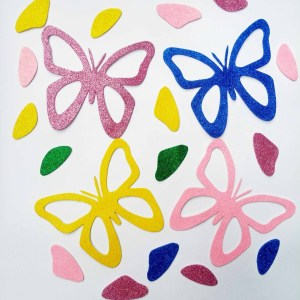 Large Butterfly Glitter Fomic Sheet Cuttings