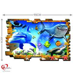 3D Shark Kids Wall Stickers