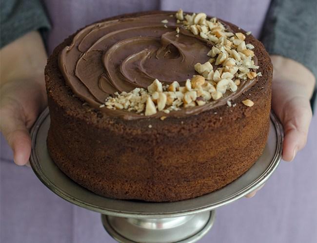 Tarta de Nutella: jugoso chocolate y esponjoso bizcocho