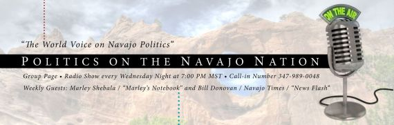 "The logo for ""Politics on the Navajo Nation,"" a weekly blog talk radio show hosted by Cal Nez every Wednesday from 7 p.m. to 9 p.m. Nez also designed the logo."