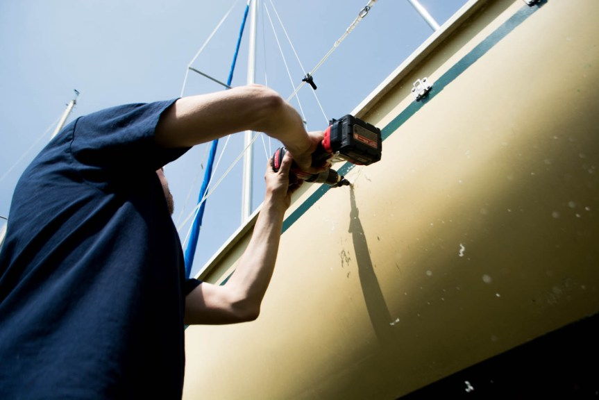 installing a manual bilge pump
