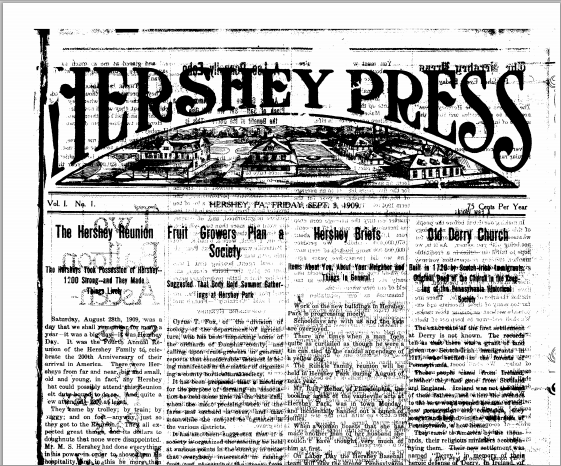 Journalisme d'entreprise : Hershey_Press