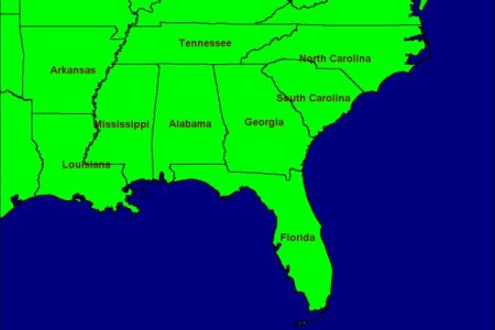 southeast usa map | www.imgarcade.com online image arcade!