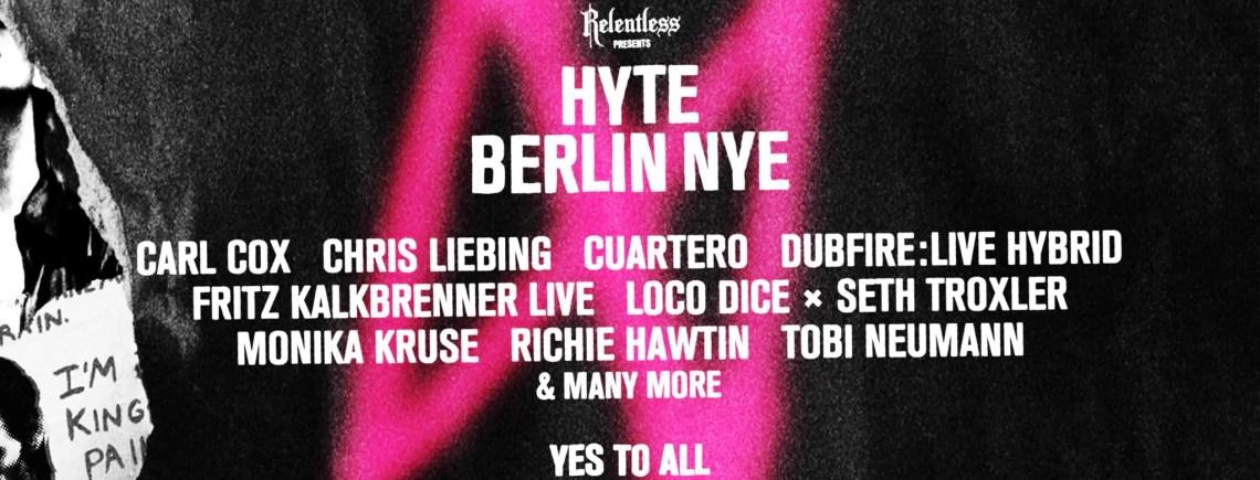 Hyte Berlin NYE 2016/2017 ARENA BERLIN 31 12 2016 Ticket/Biglietti – Pacchetti Hotel Viaggio