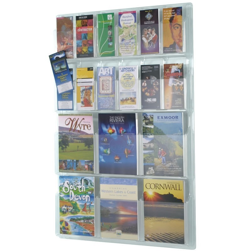 Wall Mounted Acrylic Leaflet Holder   Discount Displays Wall Mounted Acrylic Leaflet Holder