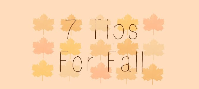 7 Tips for Preparing for Fall