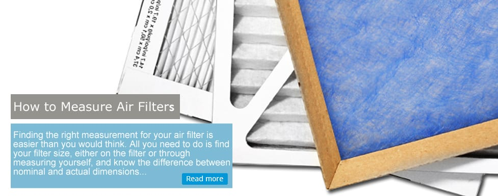 measure air filters