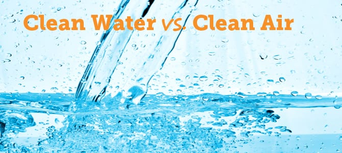 Water Cleanliness vs. Air Cleanliness