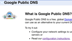 google public dns 300x173 Speed Up Your Internet Browsing   Switch to Google DNS