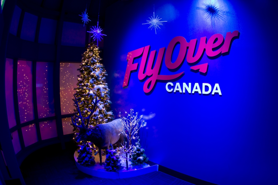 28 November 2013: Christmas Celebrations at Fly Over Canada, Canada Place, Vancouver, BC. ****(Photo by Bob Frid 2013) All Rights Reserved : cell 778-834-2455 : email: bob.frid@shaw.ca Web: bob-frid-images.photoshelter.com ****