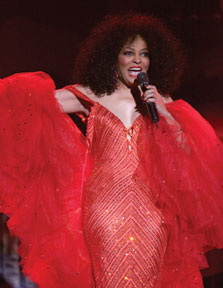 Diana Ross at Plymouth Jazz. Photographer: Andrea de Silva
