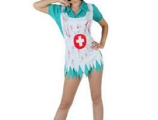disfraz de enfermera sangrienta para halloween