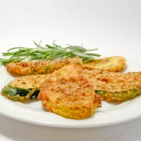 Oven Fried Pattypan Squash