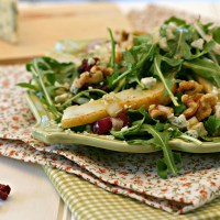 Pear, Blue Cheese, Walnut Salad