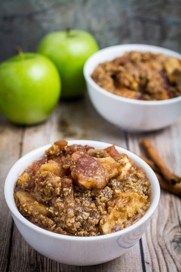Slow Cooker Apple Crisp - Gluten Free!