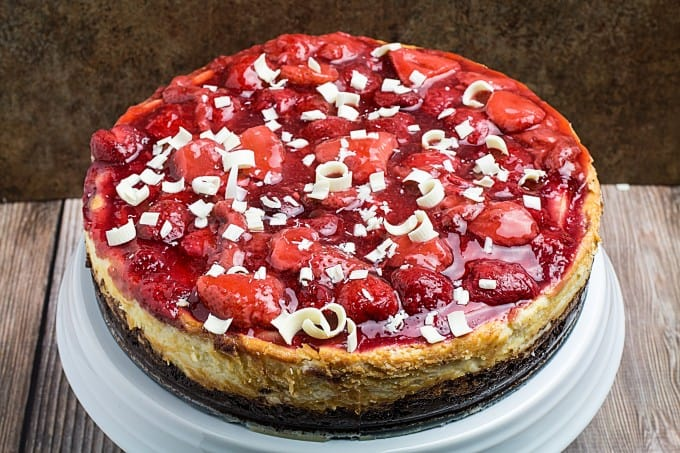 Chocolate Strawberry Cheesecake + 8 Tips For The Perfect Cheesecake ...