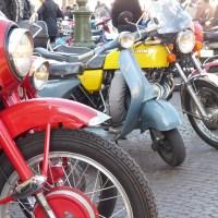 Raduno moto d'epoca in Piazza Bra