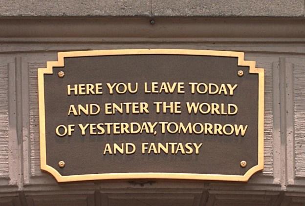 Disneyland Bridge Sign