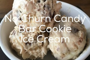 No Churn Candy Bar Cookie Ice Cream