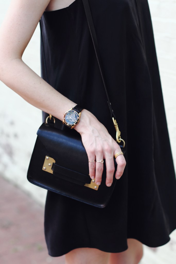 Joie dress and Sophie Hulme bag