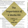The Importance ofA Media Kit