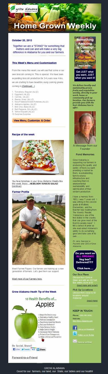 Grow Alabama newsletter