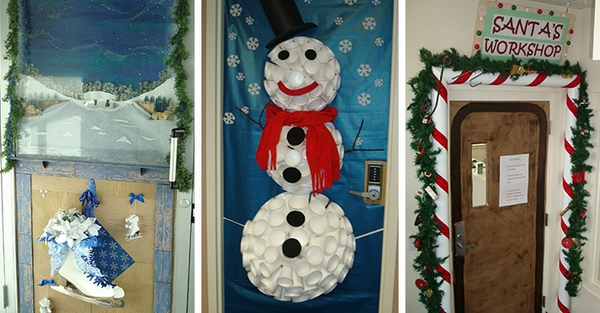 Decorating Ideas > Christmas Door Decorations – Ideas For The Front And  ~ 165534_Best Christmas Office Door Decorating Ideas