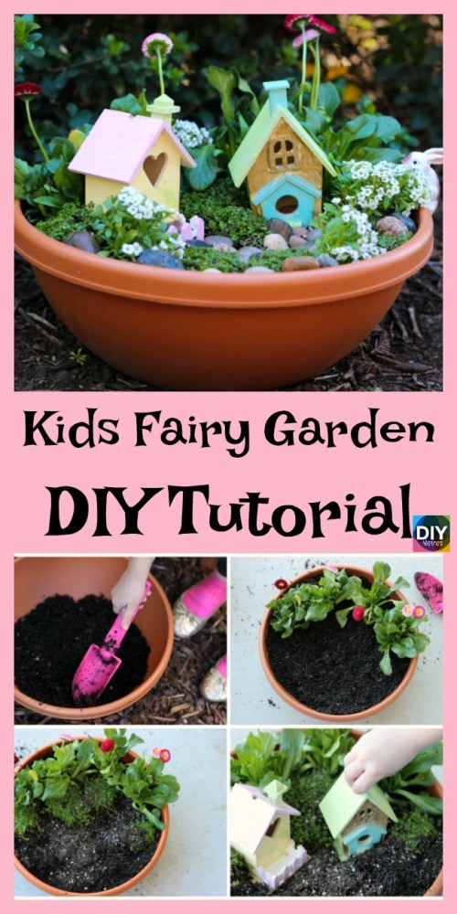 Medium Of Fairy Garden For Kids