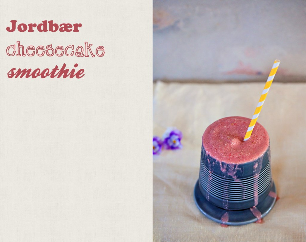 jordbær cheesecake smoothie