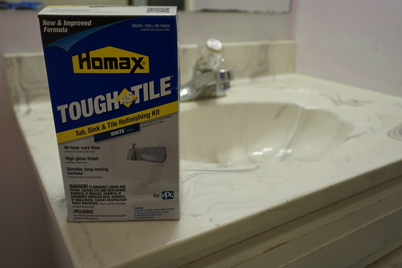 How to Use Homax TOUGH AS TILE to refinish a sink