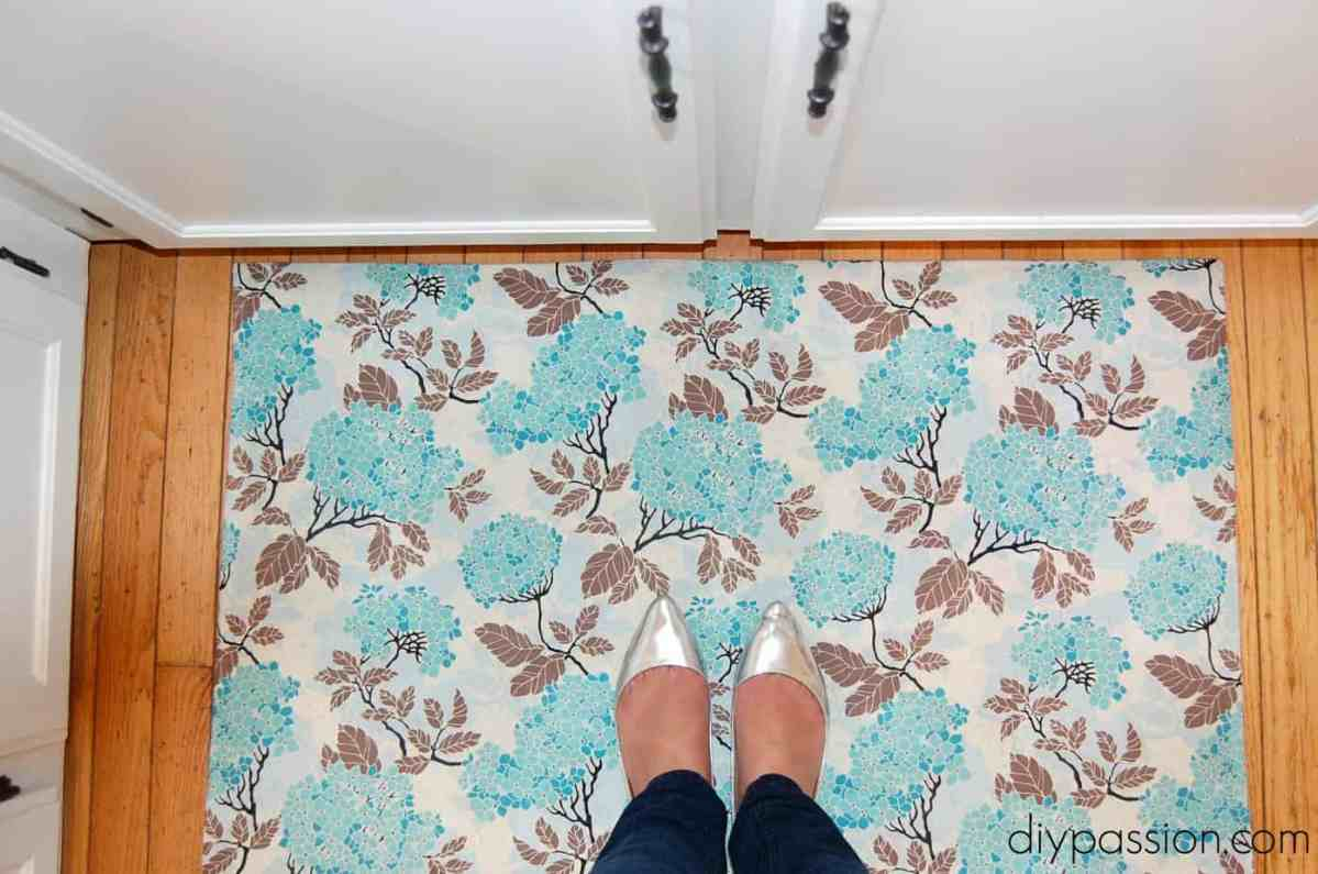 How to Make a Custom Kitchen Mat with Fabric