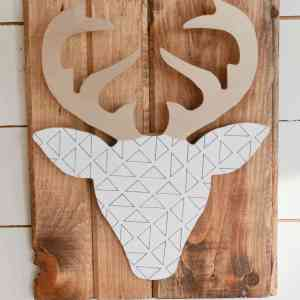 Geometric Deer Art