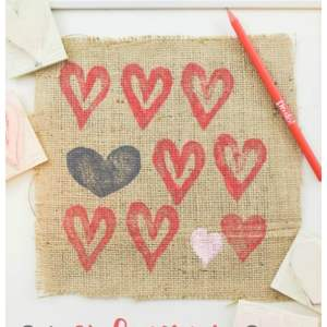 DIY Valentine's Stamp Art