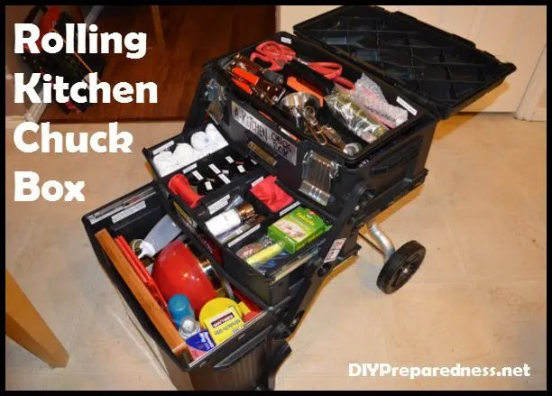 Mobile Rolling Kitchen Chuck Box For Camping And