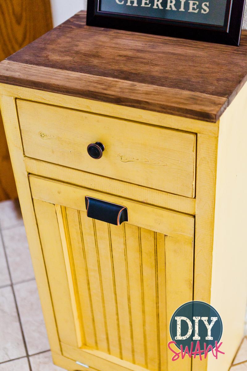 diy tilt out trash bin diy swank. Black Bedroom Furniture Sets. Home Design Ideas