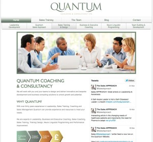 WordPress CMS website for Quantum Coaching and Consulting
