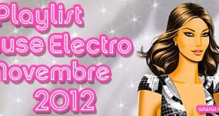 Playlist House Electro Novembre 2012