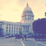 The Capitol building in Madison, WI.