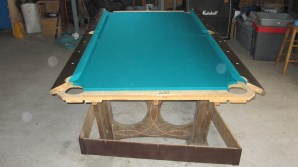 pool table without end rails