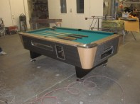 custom designed coin-op pool table
